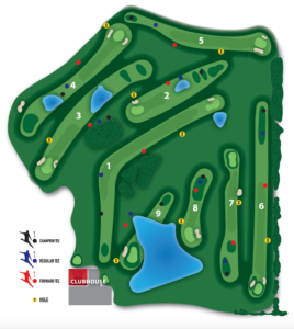 Warrior Run Footgolf Course Map